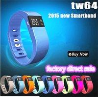 Wholesale TW64 Bluetooth Fitness Activity Tracker Smart Band Wristband Pulsera Inteligente Smart Bracelet Not Fitbit Flex Fit Bit ios DHL