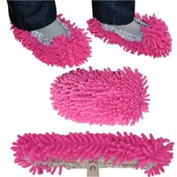 Wholesale 1 Pair Dust Mop Slipper House Cleaner Lazy Floor Dusting Cleaning Foot Shoe Cover Colors ZH129