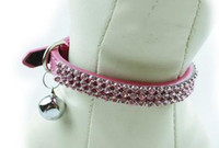 Wholesale Crystal Leather Puppy Cat Collar Products Accessories for Small Cats Dogs