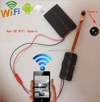 Wholesale New HD P WiFi SPY HD Hidden Camera Video Recorder IP P2P camera support APP and Android