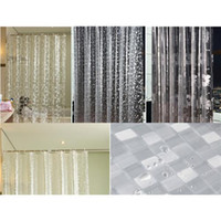 Wholesale PEVA D Chrysanthemum Pebble Mosaics Pattern Translucence Waterproof Shower Curtains D Curtains Bathroom Products CM