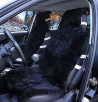 sheepskin car seat covers - universal heated full fur Wolf cushion mink hair Australian wool cushion winter pure wool car seat covers
