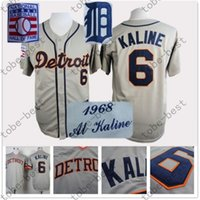al kaline baseball - Al Kaline Jersey Grey Throwback Detroit Tigers Jerseys Vintage Jerseys