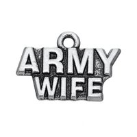 army wives - New Fashion Easy to diy Letter Army Wife Charm Accessories Charm Jewelry For Making jewelry making fit for necklace or b