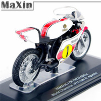 Wholesale 1 Scale YAMAHA YZR OW23 cc World Champion Rider Diecast Motorcycle Model Toys Alloy Diecasts Toy Vehicles Child Gift order lt no