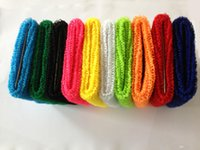 sweatbands - 200pcs Unisex Sports Cotton Wrist Sweatbands Hand Wrap Tennis Badminton Band Color Assorted