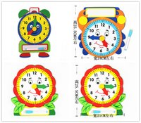Wholesale Lin Fang g finished EVA material learning clock time children start understanding with children s toys coated plate