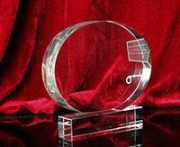 Wholesale circular K9 crystal trophy crystal award sports goods
