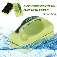 Wholesale US Stock Large Super Aquarium magnetic Brush Green Gery Floating Clean Brushes Cleaner with Handle For Fish Tank Glass aquarium
