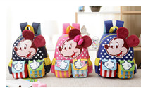 Wholesale New Arriavl Kids Satchel Mochila Infantil Cartoon Minnie Mickey Children School bags for Kids School Backpacks