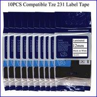 Wholesale 10pcs Compatible Brother mm P touch Label Maker Tape TZ Tze Cartridge CP Company tz tze231 tze