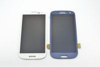 blue screen - Best Quality AAAA Samsung Galaxy S3 i9300 i747 T999 i535 R530 L710 LCD Display Touch Screen Digitizer Assembly White Blue No Frame