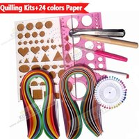 Wholesale Quilling Kits Collection With Colors Mixed Quilling Paper Work Board Slotted Tools Pins
