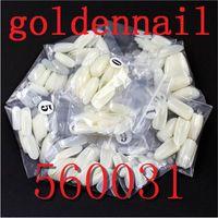 Wholesale Golden Nail Round Toe False Nails Best Designer Nail Tips Cheap Price White Nail Art Tips Use for Fingernails