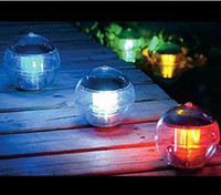 ball water fountains - New SOLAR Waterproof Floating Ball COLOR CHANGING pool water fountain pond LED light Landscape Outdoor Lighting