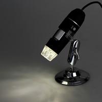 Cámara de la lupa del endoscopio del microscopio del USB 2.0 de la PM 50X ~ 500X 8 LED del USB 2.0 con el conductor negro ligero DHL C2570