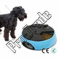 Cheap 6 Meal Tray Programmable Timer Automatic Pet Dog Cat Feeder Water Tray Bowls 6-Meal Automatic Pet Feeder 00717