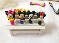 Wholesale Free Ship D Minnie Mickey School Office Cable Tie Earphone Data Audio Cable Fastener Organizer Smart Muted Line Fixer