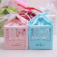 baby happiness - wedding candy box Laser cut Double Happiness Favor paper Box baby shower Birthday party Chocolate sweet gift box