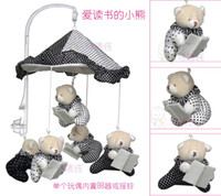 best music box - Baby Reading Bear music box bed hanged toys Baby Rattles Musical mobile Plush dolls for infants Best Baby Toys