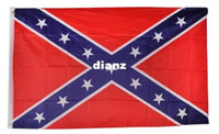 Wholesale Fashion Hot Two Sides Printed National Polyester Flag Confederate Rebel Civil War Flag