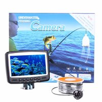 Wholesale Portable Fish Finder quot Digital Color LCD Monitor DVR Video LED TVL HD Underwater Fishing Camera M Cable Fishing Finder DHL Y1108
