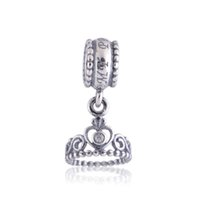 bulk charms - Pandora Princess Dangle Diy Jewelry Bracelet Charms Bulk Charm Sterling Silver Charms Beads Fit Bracelet And Necklace LW209