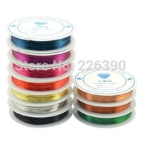 Cheap 0.6mm 6Meters Roll 10 COLORS Copper Brass Jewelry Beading Wire Fit For Accessories Making DIY Fittings Y910