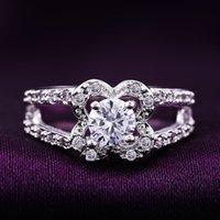 Cheap fashion gemstone rings Best flower zircon rings