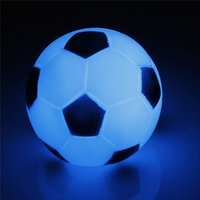 Wholesale 7 Color Football Soccer Lamp LED Night Light Party Home Decoration Gift order lt no track