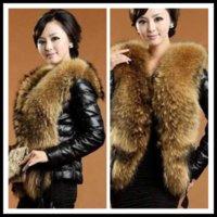 Wholesale 2014 New Fashion Women Faux Leather Jackets Luxury Style Short Black Fur Coats Long Sleeve Fur Collar Leather Jackets Warm Coats