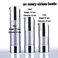 Wholesale ml UV silver transparent airless vacuum pump bottle lotion bottle used for Cosmetic Container