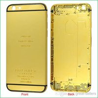 24kt gold - 24K Gold Plating Battery Back Housing Cover Skin for iPhone quot K kt ct Limited Edition Gold Back Cover Housing For iphone6 DHL
