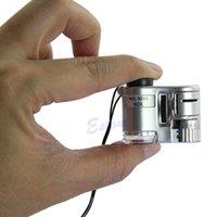 Wholesale Pocket X Loupe LED UV Microscope Detecting Zoom Flashlight Magnifier Detector
