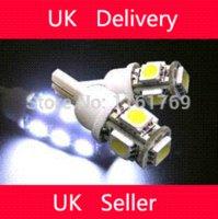 b q lighting - B amp Q T10 SMD Bulbs Car Side LED Light W5W White Red Green Blue LED Wedge Lamp