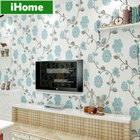 Wholesale 3D Non Woven Wall Paper Roll Fiber Texture Papel De Parede Pastoral Flower Home Decor Living Room Bedroom TV Sofa Wallpaper