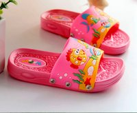 bath slippers - children s new summer soft bottom shoes female slip bath tow home seabed Korean sandals and slippers LSL3019