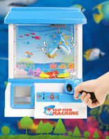 best arcade machines - Novelty Mini Clip Doll Machine Arcade Game Machine Plastic Blue Candy Machine Game Machine Best Gifts for Friend