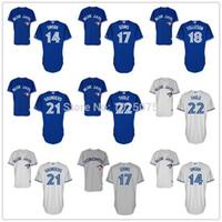 Wholesale 2015 New Toronto Blue Jays Jersey Josh Thole Justin Smoak Michael Saunders Ryan Goins Steve Tolleson Blue White Grey