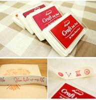 beauty scrapbook - 2015 New Beauty DIY Oil Scrapbook Albums Gradient Stamp Set Ink Pad Inkpad Craft Tin DIY Ink Pad