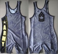 army wrestling singlets - Special Design Custom Service Swimwear US Army Digicamo Wrestling Singlet Leotards Uniform Weightlifting Outfit Soldier Suit
