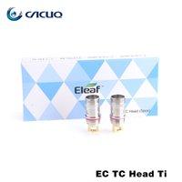 Detección de cabezas de espiral de la bobina de titanio níquel 0.5ohm 0.15ohm algodón orgánico auténtica Temperatura Eleaf CE TC Cabeza de Melo 2 Tanque