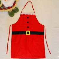 Wholesale Christmas Decoration Apron Creative Red Home Cooking For Dinner