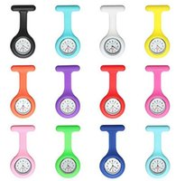 Wholesale DDA3626 New Silicone Colorful Medical Nurse Watch Cute Patterns Fob Quartz Watch Doctor Watch pocket Watches