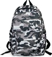 Wholesale Children Cool School Bags for Boys and Girls Camouflage Sports Small Backpack Nylon Shoulder Bag Green Gray