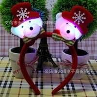 Wholesale 2014 christmas decorations christmas accessories lighting party decoration christmas ornament hair band Santa Claus Snowman Reindeer toy