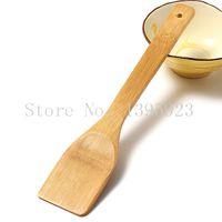 Wholesale 1pc Hand in wooden spatula natural wood spatulas bamboo shovel buzhanguo cooking Tool sooktops