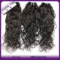 Wholesale 2bundles per human hair extensions peruvian virgin hair weaves unprocessed a grade human hair weaves