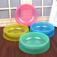 Wholesale 2015 New Real Automatic Feeders Waterers Scooter Freestyle Pet Products Mixed Batch of Candy Color Plastic Transparent Bowl Tableware Dog