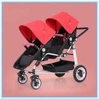 Others baby pram - New Hot Sale Baby Double Stroller Red Pink Green High Quality Pram Multi States to Adjust for Baby Folding Buggy